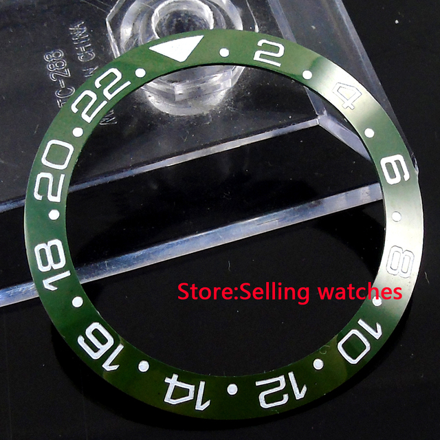 US $13 75 45% OFF|39 8mm ceramic green olive bezel insert for 43mm sub GMT  mens watch-in Watch Faces from Watches on Aliexpress com | Alibaba Group