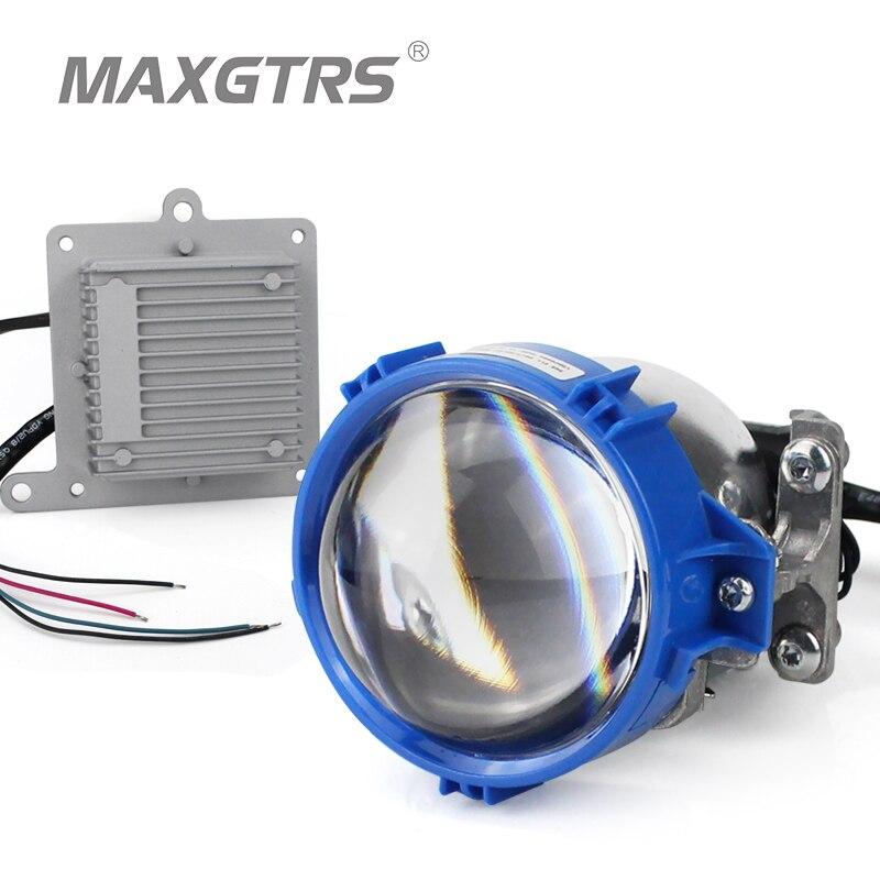 2017 MAXGTRS Auto Bi-LED Projector Lens Headlight 35W 6000K Hi Lo Beam Auto lighting Car-Styling LED Headlight Autoparts led projector lens headlight with ballast 35w 5500k 3 inch projector lens led car
