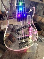 High quality 4 strings led light acrylic electric bass guitar/5 strings guitar have more led light color can choose