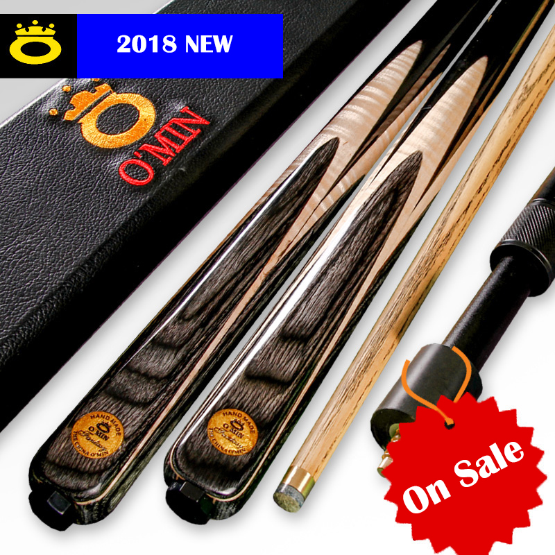 O'MIN Snooker Cue High-end One Piece Snooker Cue or 3/4 Piece Cue with Excellent Case with Telescopic Extension Snooker Stick cuesoul 57 1 4 inch walnut 3 4 piece snooker cue 18oz