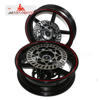 12mm hole 2.75-12inch Front & 3.50-12 Rear Dirt bike Pit Bike 12inch Vacuum Wheel Rim Front and Rear brake disc ainwheels
