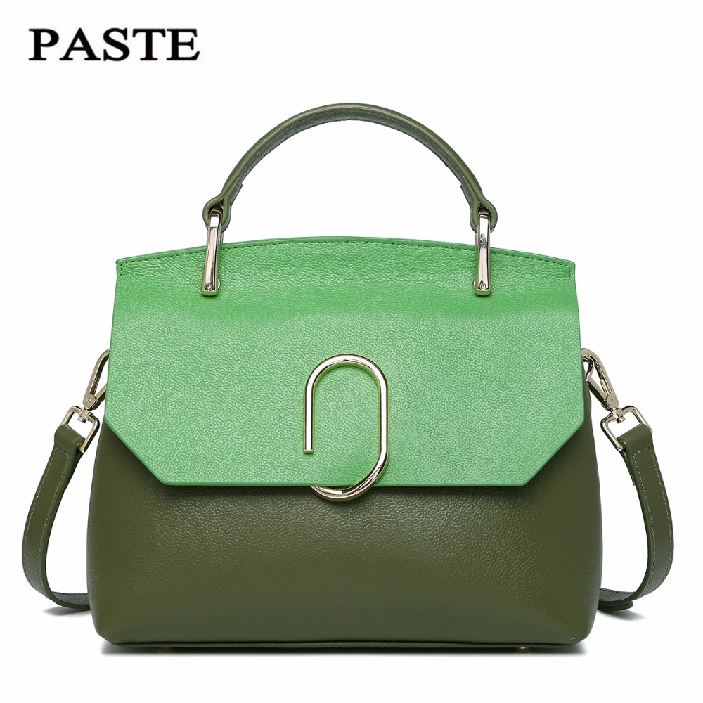 PASTE Female First layer cowhid Totes Women Shoulder bag Leather Messenger Bags fashion Satchel bag Handbags Crossbody bagsPASTE Female First layer cowhid Totes Women Shoulder bag Leather Messenger Bags fashion Satchel bag Handbags Crossbody bags