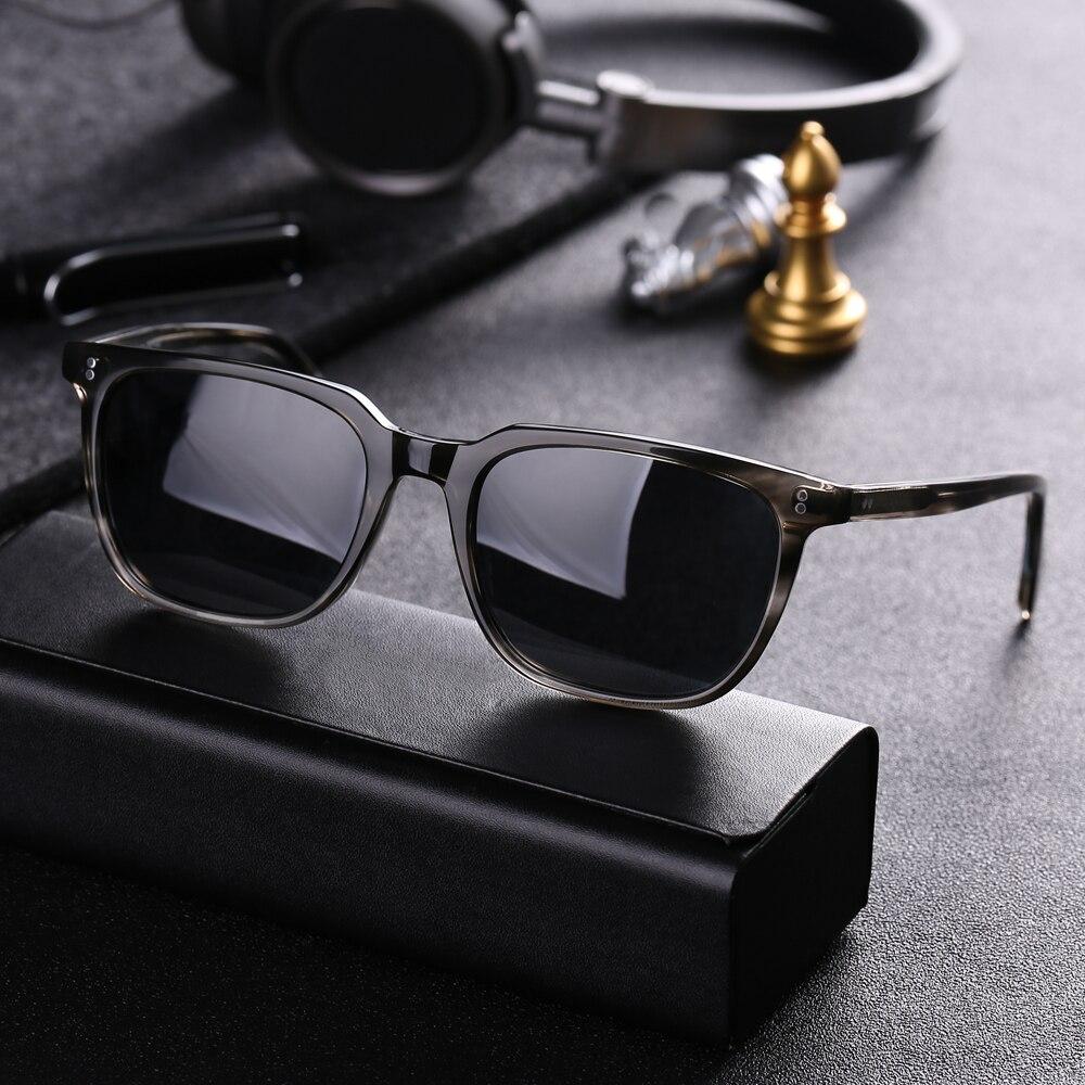 Vazrobe hommes lunettes de soleil polarisées hommes lunettes de soleil pour homme conduite noir acétate marque Designer UV400 mode Style Anti-reflet
