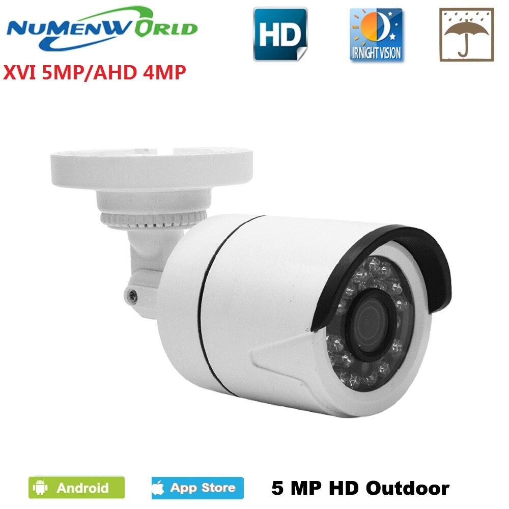 Güvenlik ve Koruma'ten Gözetim Kameraları'de 5MP AHD kamera 5.0MP HD açık CCTV güvenlik kamera su geçirmez IR CUT 24 IR ledler gece görüş Analog video kamera title=