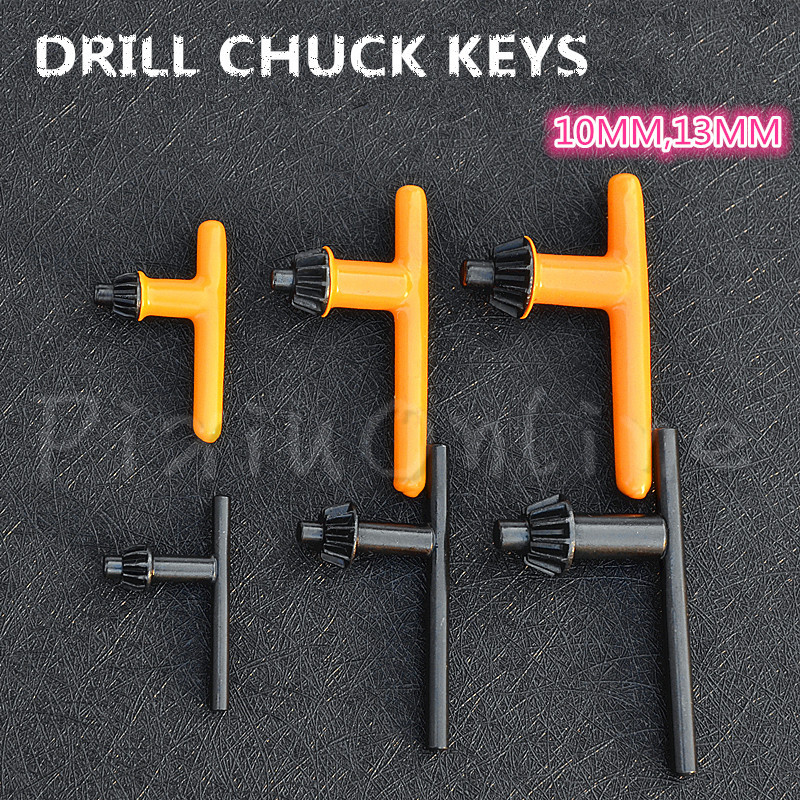 1PC ST074b Drill Chuck Keys Applicable to 10MM 13MM Drill Chuck With Gum Cover Electric Hand Drill Chuck Wrench Tool Part xkai 14pcs 6 19mm ratchet spanner combination wrench a set of keys ratchet skate tool ratchet handle chrome vanadium