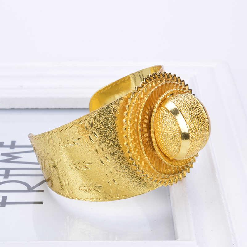 New set Ethiopian bridal jewelry 24Kgold plated bracelet African gold /Nigeria/Sudan/Eritrea/Kenya/Habasha style/Wedding L30030