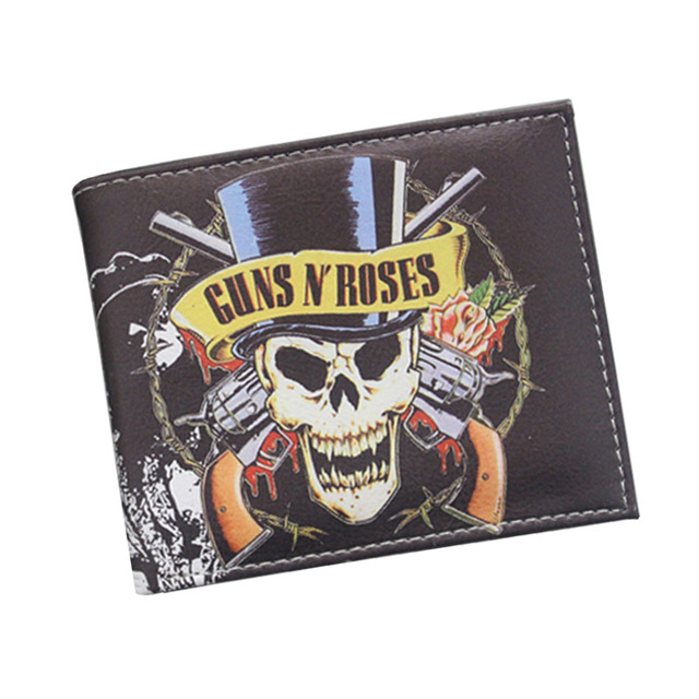 the theme of Rock Band wallets music pu purse for funs acdc/fallout/pantera/remones rock band card holder man's wallet Kids Wallets