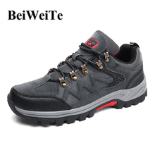 Купить с кэшбэком Men's Hiking Shoes Male Big Size Non-skid Climbing Sports Sneakers Camel Style Spring Tourism Hunting Trekking Outdoor Shoes Hot