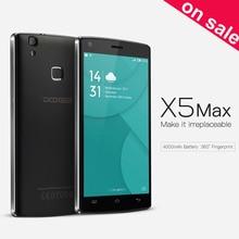 Doogee x5 max x5 max pro 8 gb/16 gb + 1 gb/2 gb 4000 mah batterie 360 grad fingerabdruck 5,0 zoll android 6.0 mtk6580 quad core 1,3 ghz