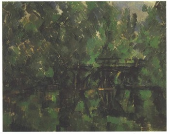 Handmade Oil Painting Reproduction on linen canvas,bridge-over-the-pond BY paul Cezanne ,Free Shipping ,TOP quality