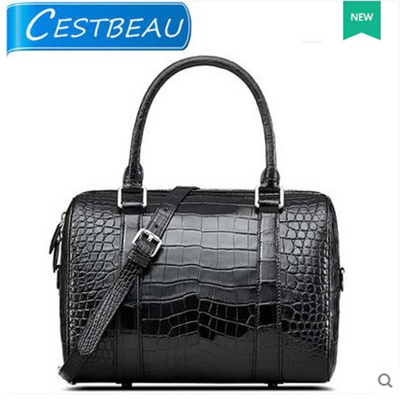 2018 cestbeau crocodile skin  belly leather women bag without splicing whole leather women handbag high end area selection men without women