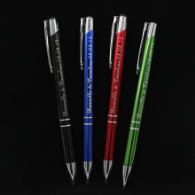 30 Pcs Personalized Pens with Name Engraved Metal Ballpoint