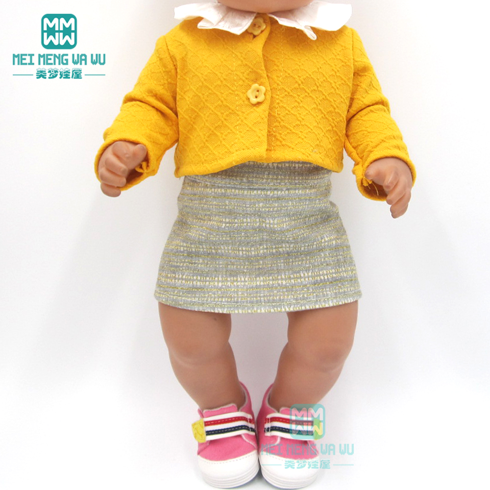 Doll Clothes For 43cm New Born Doll And American Doll Fashion Three-piece Baby Suit