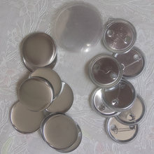 "100 Sets 2-1/4 ""58mm Pin Terug Metal Button Supply Materialen voor Professionele Alle Stalen Badge button Maker(China)"