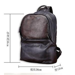 Image 5 - AETOO กระเป๋าเป้สะพายหลังหนังกระเป๋าเป้สะพายหลังแฟชั่นผู้ชายกระเป๋าหนัง Retro Leisure กระเป๋าเดินทางขนาดใหญ่