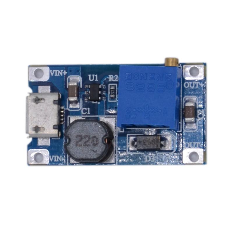 10pcs/lot 2577 Wide Voltage Input 2/24V 5/9/12/28V Adjustable 2a Boost Board DC-DC Boost Module