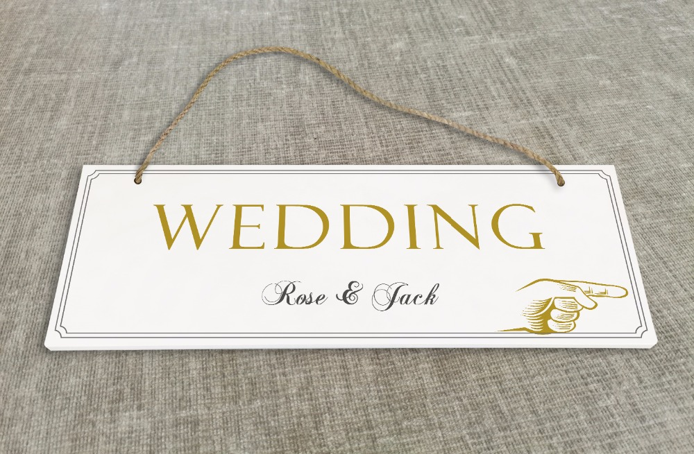 Personalized Outdoor Wedding Reception & Ceremony Decoration Directional Signs wedding s ...