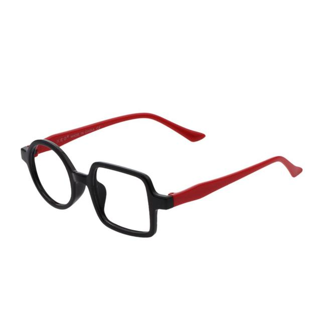 ab34a28fa3 Black Red Round Square Cute Children Boy Girl Eyewear Eyeglasses Frame
