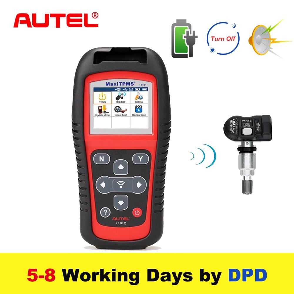 Autel MaxiTPMS TS501 315/433 Mhz TPMS Strumento di Programmazione Attivare I Sensori TPMS Legge/cancella codici di sistema TPMS OBD2 Scanner