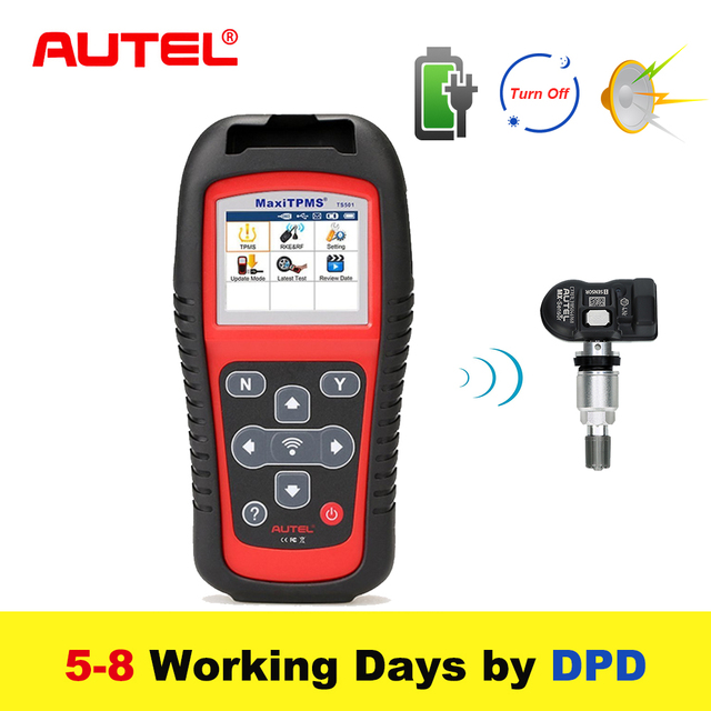 Autel MaxiTPMS TS501 315/433Mhz TPMS Programming Tool  Activate TPMS Sensors Reads/clears codes of TPMS system OBD2 Scanner