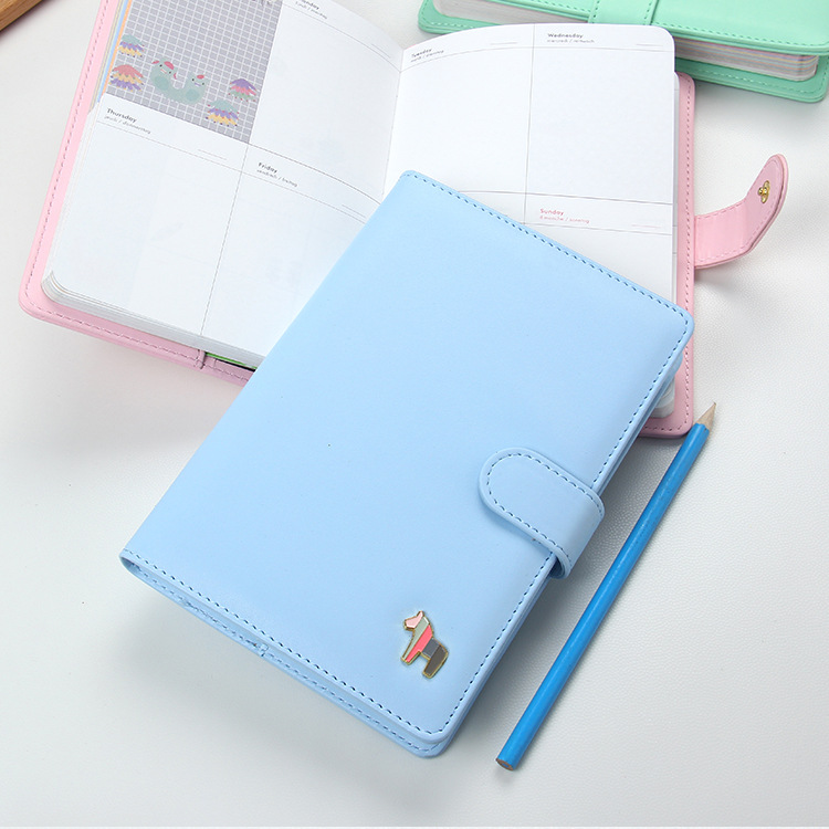 MaoTu PU Leather Kawaii Agenda 2019 Planner Notebook Cute Weekly Planner Monthly Daily Day Planner fromthenon cute pu leather notebook cover kawaii cat a5a6 spiral planner personal diary weekly monthly daily journal stationery