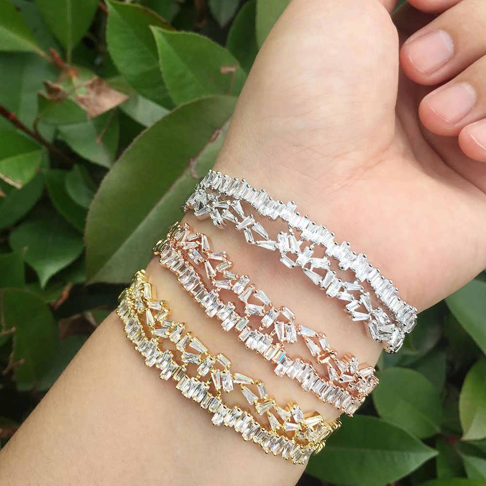 GODKI mode à la mode délicat luxe gemoétrique cubique zircone fête mariage saoudien arabe Dubai bracelet