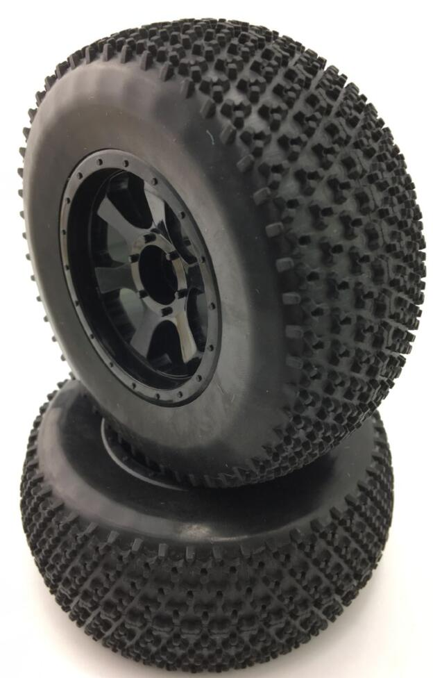 4PCS Wheels And Tires For Hraxxas 1/10 SLASH  Short Course Truck MODEL  HSP HPI Kyosho Tamiya Redcat Fs Racing