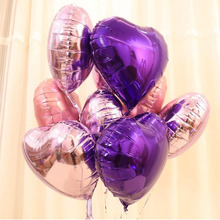 Shiny pure color balloons 50pcs/lot heart shape foil balloon 18inch mylar for engagement,casamento, wedding decoration