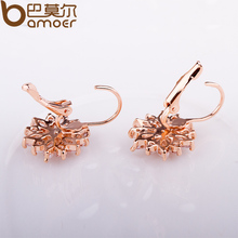 3 Colors Luxury Gold Color Flower Stud Earrings