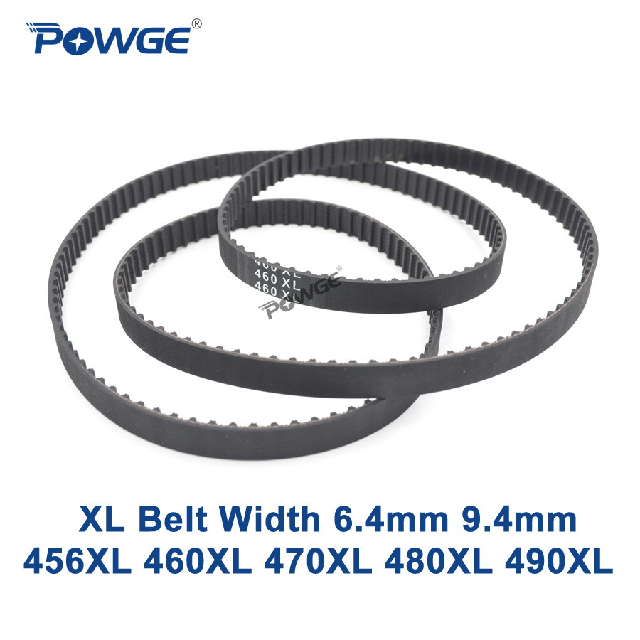 POWGE XL Timing belt 456/460/470/480/490 Width 025 037 Teeth 228 230 235 240 245 Synchronous Belt 456XL 460XL 470XL 480XL 490XL|xl timing belt|synchronous belt|timing belt - title=
