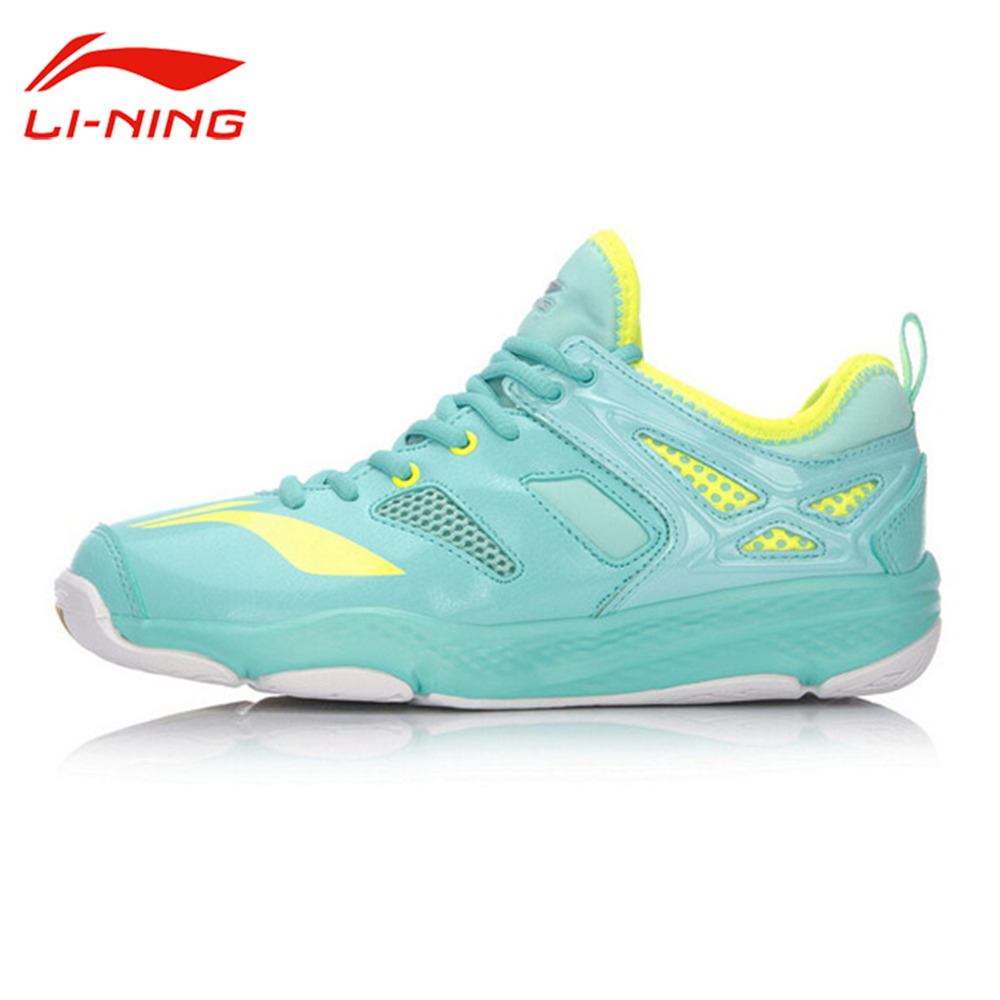 Li-Ning Women's Training Cloud Badminton Shoes TUFF RB LiNing Breathable Sneakers Li Ning Sports Shoes AYTM014 original li ning men professional basketball shoes