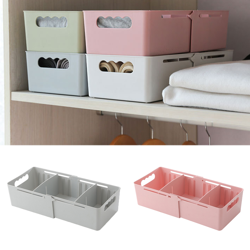 Telescopic Storage Box Retractable Storage Box Socks And Panties Drawer Desktop Finishing Box Home Multi-function Container Box