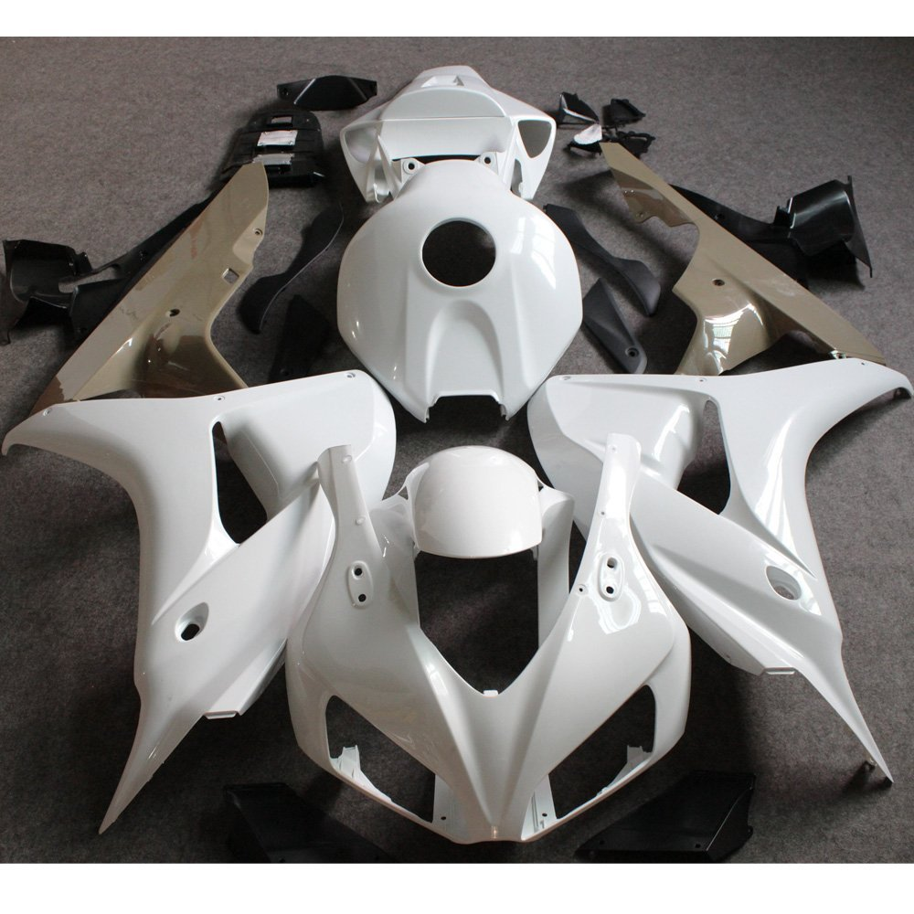 Injection Unpainted Fairing Set For Honda CBR1000RR CBR 1000 RR 2006 2007 CBR 1000RR CBR1000 RR 06 07 Motorcycle Fairings White