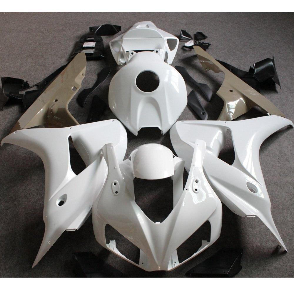 Jeu de carénages non peints par Injection pour Honda CBR1000RR CBR 1000 RR 2006 2007 CBR 1000RR CBR1000 RR 06 07 carénages moto blanc