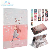 MediaPad T3 10 0 Slim PU Leather Case Cover 9 6 Print Protective Stand For Huawei