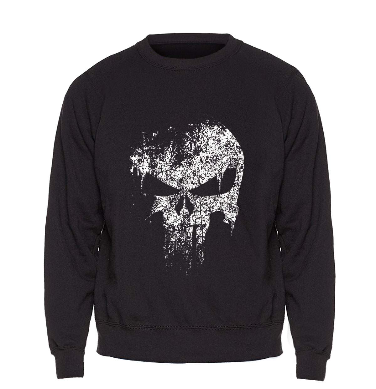 Skull Sweatshirt Men Print New Comics Supper Hero Hoodie Black Sweatshirts Fleece Warm Hip Hop Streetwear Mens