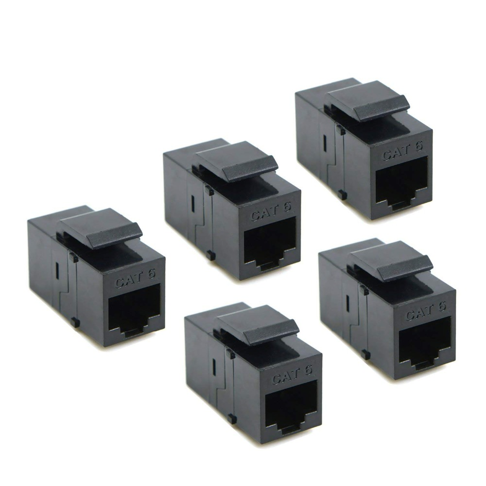 CAT6 Keystone Coupler RJ45 UTP Coupler Insert Snap in Connector Socket Adapter Port for Wall Plate