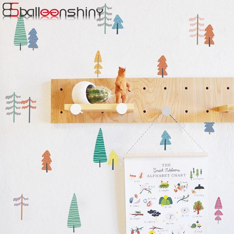 Balleenshiny dos desenhos animados árvore avião adesivo de parede estilo conciso nórdico removível cartaz da parede do bebê crianças quarto berçário decalques bonitos