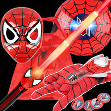 Newest Marvel Toys The Avengers Iron Man Action Figure Spiderman Mask LED Sword Flash Ironman Shield Toy Halloween Cosplay Mask