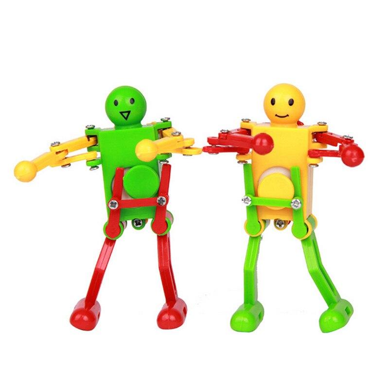 unidslote clockwork spring wind up dancing robot de juguete para nios de los