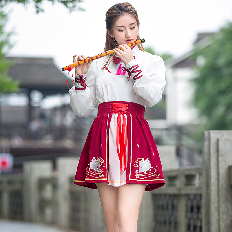Women Hanfu Costume Fairy Ancient Princess Classical Hanfu Chinese Folk Dance Traditional Costume Performance Suit