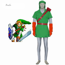 Ainclu Customize for adults and kids Free Shipping Forest Green The Legend of Zelda Link Cosplay  sc 1 st  AliExpress.com & Buy link costume kids and get free shipping on AliExpress.com