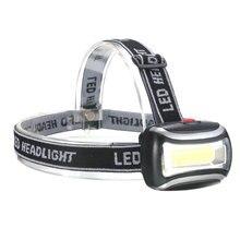 Мини-пластиковые фар кемпинга факел глава фары фонарик рыбалка светодиодные свет лампы