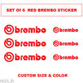 Brembo Logo Decal sticker vinyl caliper brake custom size - 3 samll&3 big