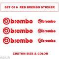 Pinza de freno Brembo Logo sticker Decal vinilo de tamaño personalizado-3 samll y 3 grandes
