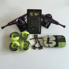 Skateboard Parts ELEMENT 5.25″ Skate Truck & 52mm Wheels LUKCY ABEC-3 bearings Plus Royal Riser Pads & A Hardware Set