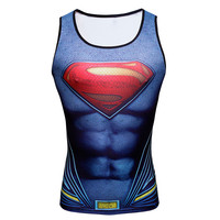 Superhero Singlets Superman Tank Tops Bodybuilding Vest Sport Tank Tops Batman Spiderman Male Tank Tops