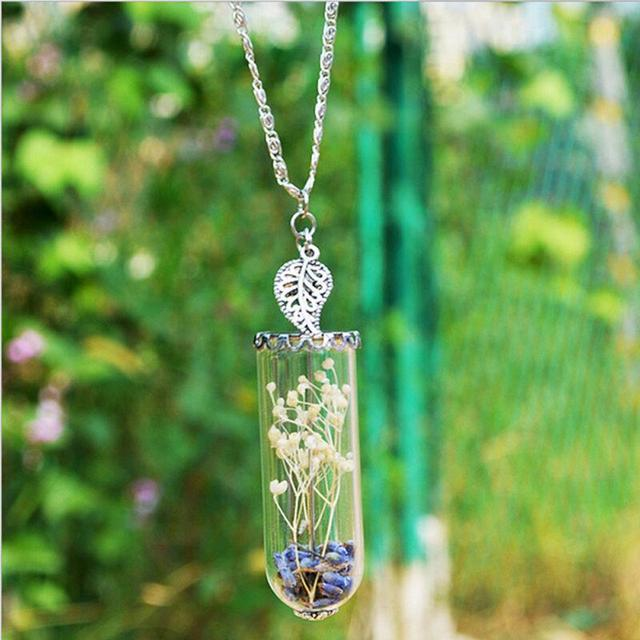 1pc handmade lavender wish pendant leaf crystal glass bottle 1pc handmade lavender wish pendant leaf crystal glass bottle necklace diy love gifts necklaces for women mozeypictures Choice Image