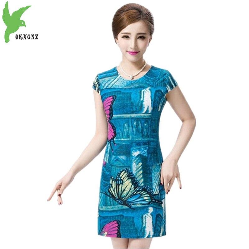 2017 mujeres del verano dress seda de la leche más el tamaño 4xl impreso dress d