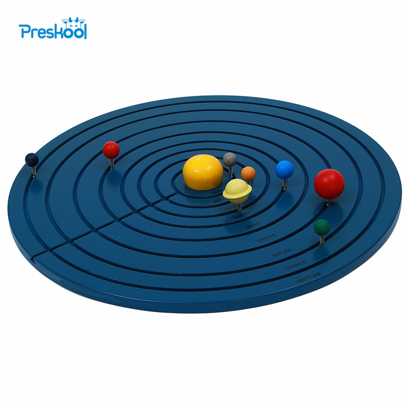 Baby Toy Montessori Solar System Early Childhood Education Kids Brinquedos Juguetes new wooden montessori family version brown stair width 0 7 cm to 7 cm early childhood education preschool training baby gifts